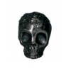 Bead Rose Skull 10mm Black